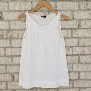 Vince White Linen Tank Top - Size Small